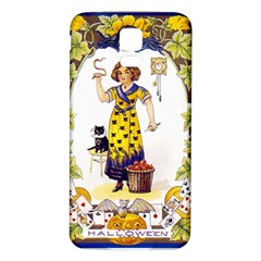 Vintage Halloween Postcard Samsung Galaxy S5 Back Case (White)