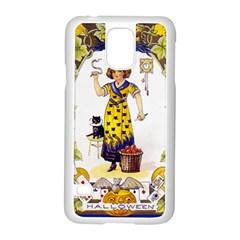 Vintage Halloween Postcard Samsung Galaxy S5 Case (White)