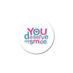 You Deserve My Smile Typographic Design Love Quote Golf Ball Marker 10 Pack