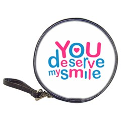 You Deserve My Smile Typographic Design Love Quote Cd Wallet