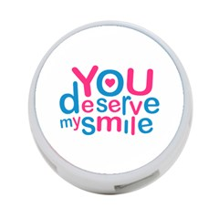 You Deserve My Smile Typographic Design Love Quote 4 Port Usb Hub (one Side)