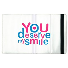 You Deserve My Smile Typographic Design Love Quote Apple iPad 3/4 Flip Case