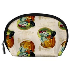 Vintage Halloween Postcard Accessory Pouch (Large)