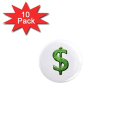 Grunge Style Money Sign Symbol Illustration 1  Mini Button Magnet (10 Pack)
