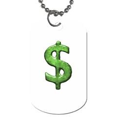Grunge Style Money Sign Symbol Illustration Dog Tag (Two-sided)