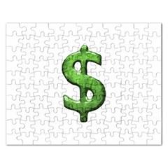 Grunge Style Money Sign Symbol Illustration Jigsaw Puzzle (Rectangle)