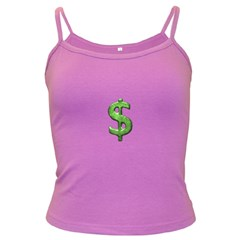 Grunge Style Money Sign Symbol Illustration Spaghetti Top (Colored)