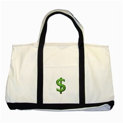 Grunge Style Money Sign Symbol Illustration Two Toned Tote Bag