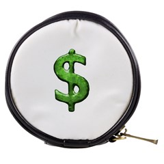 Grunge Style Money Sign Symbol Illustration Mini Makeup Case