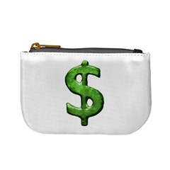 Grunge Style Money Sign Symbol Illustration Coin Change Purse