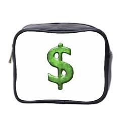Grunge Style Money Sign Symbol Illustration Mini Travel Toiletry Bag (two Sides)