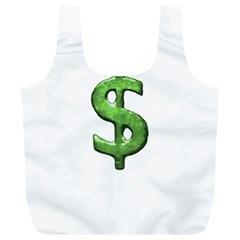 Grunge Style Money Sign Symbol Illustration Reusable Bag (XL)
