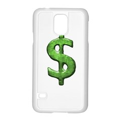 Grunge Style Money Sign Symbol Illustration Samsung Galaxy S5 Case (White)