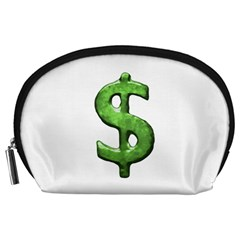 Grunge Style Money Sign Symbol Illustration Accessory Pouch (Large)