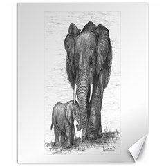 Elephant Canvas 16  X 20  (unframed)
