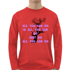 #realthought by saprillika Men s Long Sleeve T-shirt (Dark Colored)