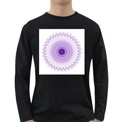Mandala Men s Long Sleeve T Shirt (dark Colored)