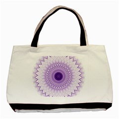Mandala Twin-sided Black Tote Bag
