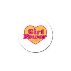Girl Power Heart Shaped Typographic Design Quote Golf Ball Marker
