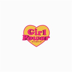 Girl Power Heart Shaped Typographic Design Quote Canvas 36  x 48  (Unframed)