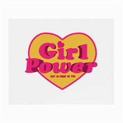 Girl Power Heart Shaped Typographic Design Quote Glasses Cloth (small, Two Sided)