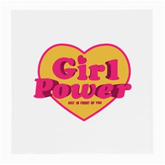 Girl Power Heart Shaped Typographic Design Quote Glasses Cloth (Medium, Two Sided)