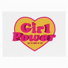 Girl Power Heart Shaped Typographic Design Quote Glasses Cloth (Large, Two Sided)