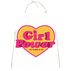 Girl Power Heart Shaped Typographic Design Quote Apron