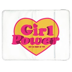 Girl Power Heart Shaped Typographic Design Quote Samsung Galaxy Tab 7  P1000 Flip Case