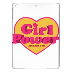 Girl Power Heart Shaped Typographic Design Quote Apple Ipad Air Hardshell Case