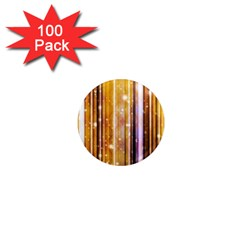 Luxury Party Dreams Futuristic Abstract Design 1  Mini Button Magnet (100 Pack)