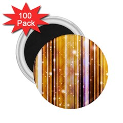 Luxury Party Dreams Futuristic Abstract Design 2.25  Button Magnet (100 pack)
