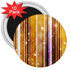 Luxury Party Dreams Futuristic Abstract Design 3  Button Magnet (10 pack)