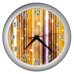 Luxury Party Dreams Futuristic Abstract Design Wall Clock (silver)