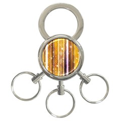 Luxury Party Dreams Futuristic Abstract Design 3-Ring Key Chain