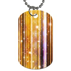 Luxury Party Dreams Futuristic Abstract Design Dog Tag (two Sided)