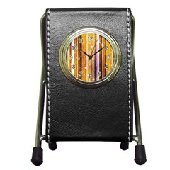 Luxury Party Dreams Futuristic Abstract Design Stationery Holder Clock