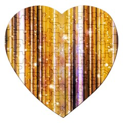 Luxury Party Dreams Futuristic Abstract Design Jigsaw Puzzle (Heart)
