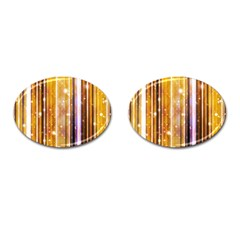 Luxury Party Dreams Futuristic Abstract Design Cufflinks (oval)