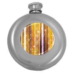 Luxury Party Dreams Futuristic Abstract Design Hip Flask (Round)