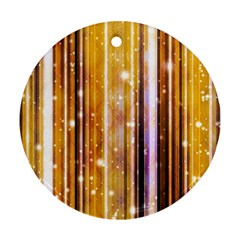 Luxury Party Dreams Futuristic Abstract Design Round Ornament (two Sides)