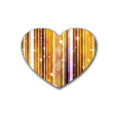 Luxury Party Dreams Futuristic Abstract Design Drink Coasters (Heart)