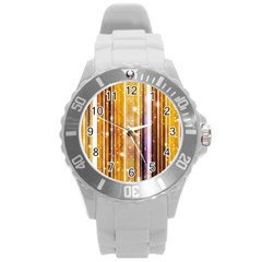 Luxury Party Dreams Futuristic Abstract Design Plastic Sport Watch (large)