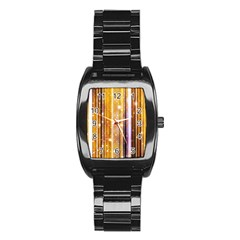 Luxury Party Dreams Futuristic Abstract Design Stainless Steel Barrel Watch