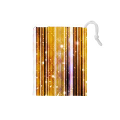 Luxury Party Dreams Futuristic Abstract Design Drawstring Pouch (Small)
