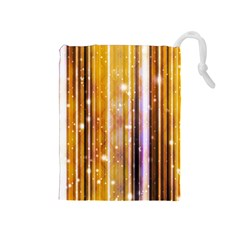 Luxury Party Dreams Futuristic Abstract Design Drawstring Pouch (medium)