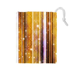 Luxury Party Dreams Futuristic Abstract Design Drawstring Pouch (Large)