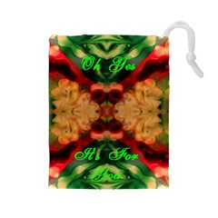 Christmas Eve At Midnight By Saprillika Drawstring Pouch (large)