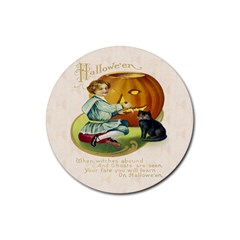 Vintage Halloween Postcard Drink Coasters 4 Pack (Round)