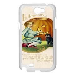 Vintage Halloween Postcard Samsung Galaxy Note 2 Case (White)